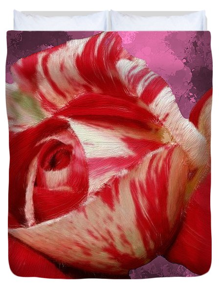 Valentine's Day Rose Duvet Cover by Bruce Nutting