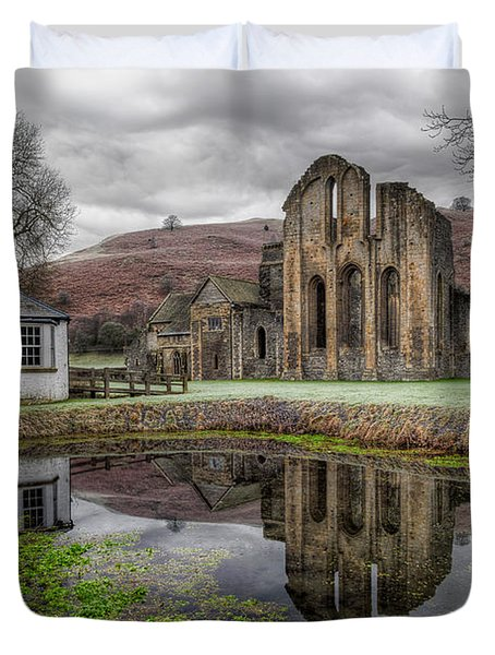 Valle Crucis Abbey Duvet Cover by Adrian Evans