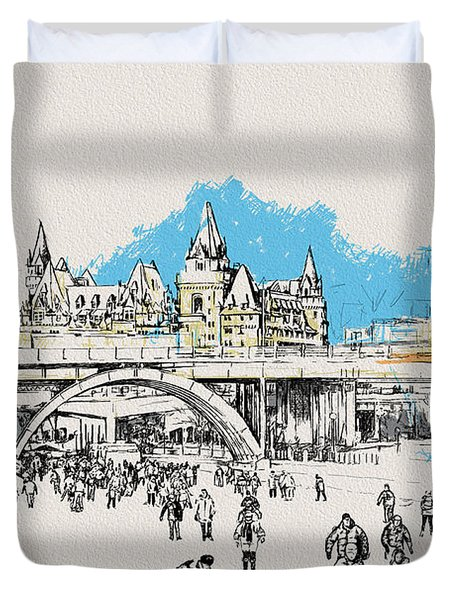 Vancouver Art 003 Duvet Cover by Catf