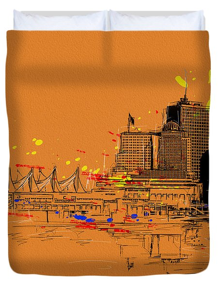 Vancouver Art 006 Duvet Cover by Catf
