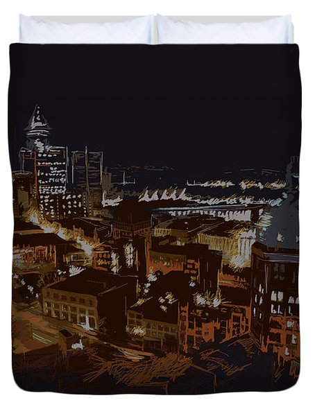 Vancouver Art 009 Duvet Cover by Catf