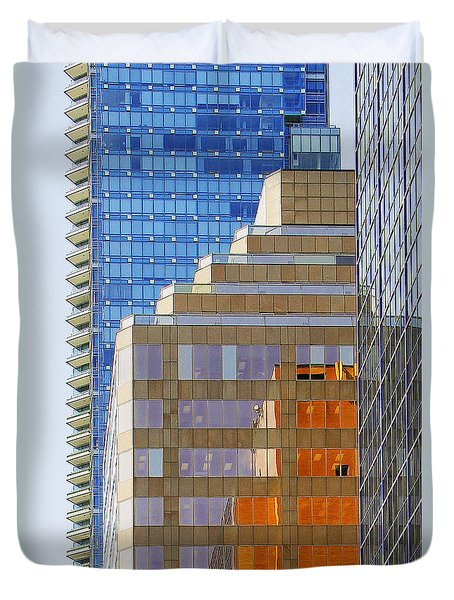 Vancouver Reflections No 1 Duvet Cover by Ben and Raisa Gertsberg
