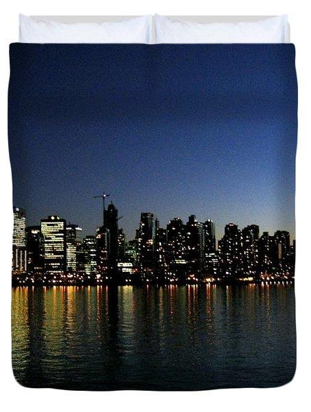 Vancouver Skyline Duvet Cover by Will Borden