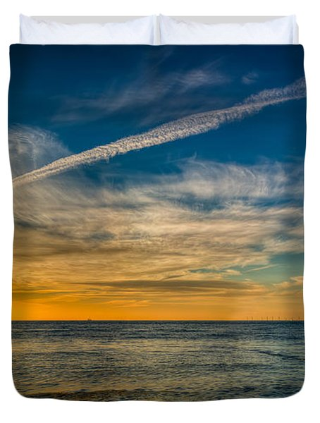 Vapor Trail Duvet Cover by Adrian Evans