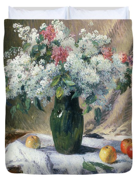 Vase Of Flowers Duvet Cover by Henri Lerolle