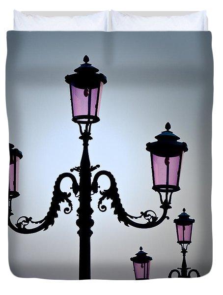 Venetian Lamps Duvet Cover by Dave Bowman