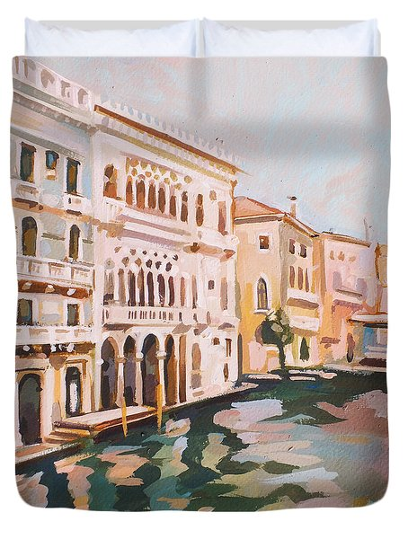 Venetian Palaces Duvet Cover by Filip Mihail