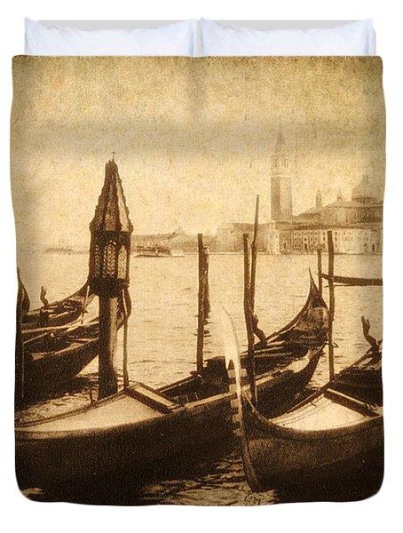 Venice Postcard Duvet Cover by Jessica Jenney
