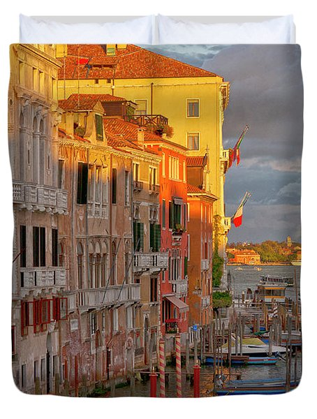 Venice Romantic Evening Duvet Cover by Heiko Koehrer-Wagner