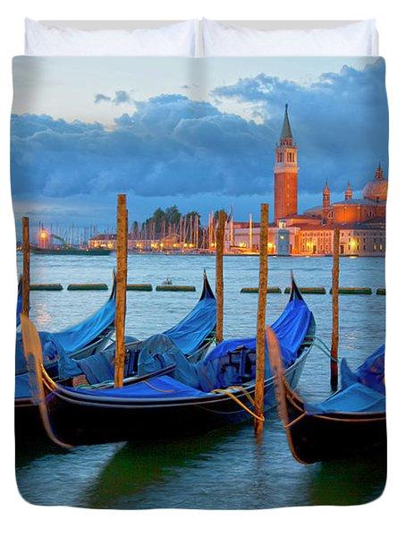 Venice View To San Giorgio Maggiore Duvet Cover by Heiko Koehrer-Wagner