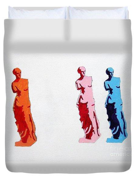 Venus De Milo Statue Duvet Cover by Venus