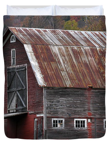 Vermont Barn Art Duvet Cover by Juergen Roth