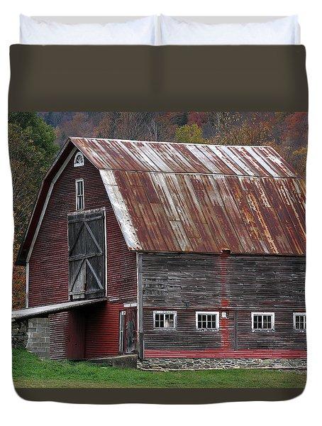 Vermont Barn Art Duvet Cover by Juergen Roth