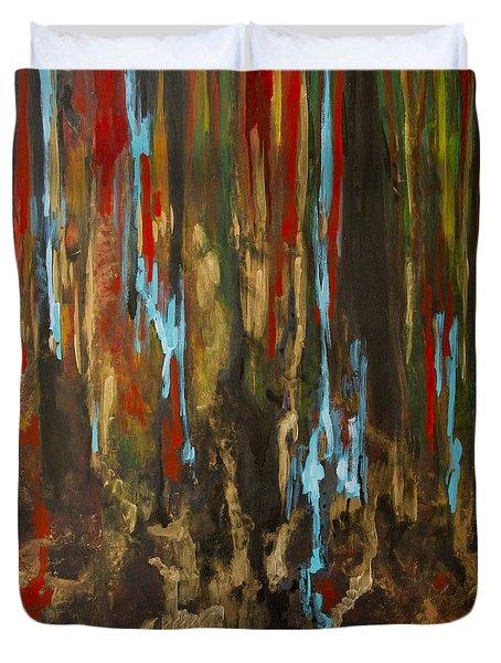 Vertical Duvet Cover by Olga Zamora