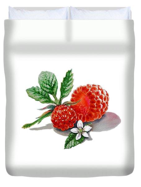 Artz Vitamins A Very Happy Raspberry Duvet Cover by Irina Sztukowski