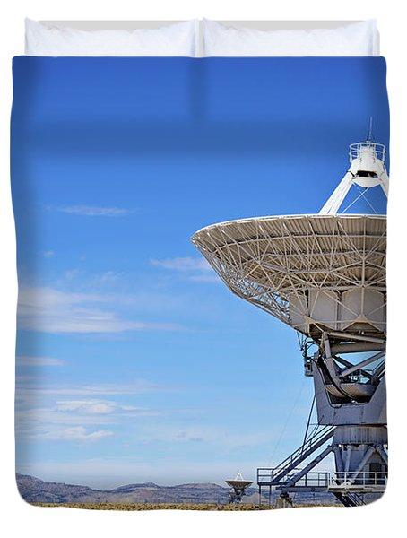 Very Large Array - Vla - Radio Telescopes Duvet Cover by Christine Till