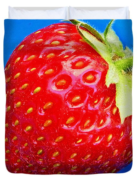 Very Strawberry  Duvet Cover by Chris Berry