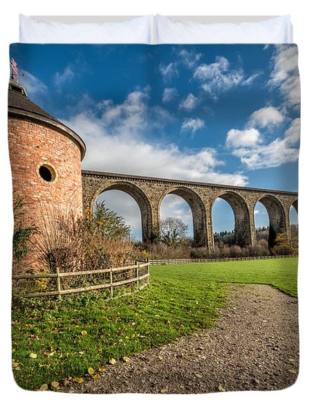 Viaduct Ty Mawr Park Duvet Cover by Adrian Evans