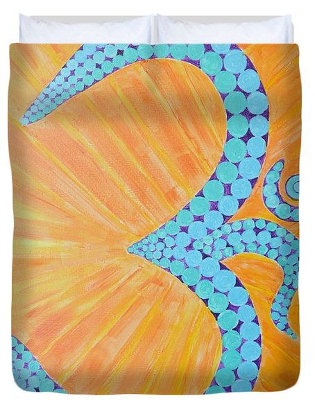 Vibration Of The Supreme Duvet Cover by Sonali Gangane