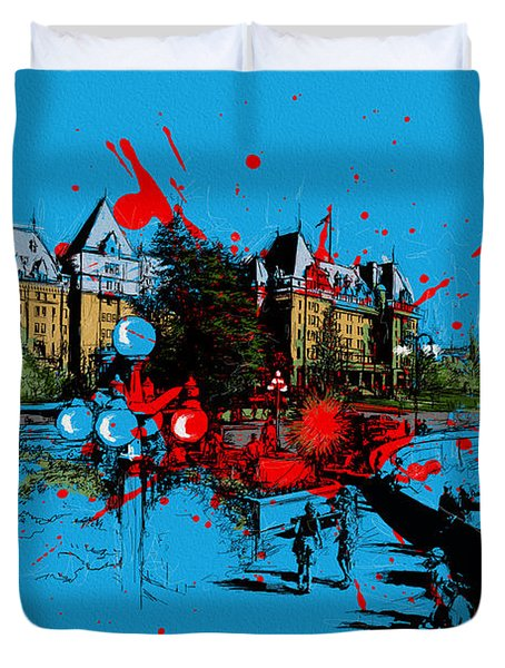 Victoria Art 003 Duvet Cover by Catf