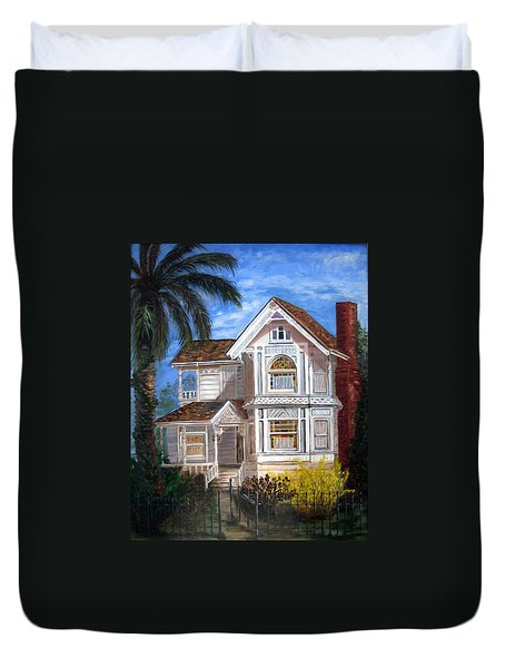 Victorian House Duvet Cover by LaVonne Hand
