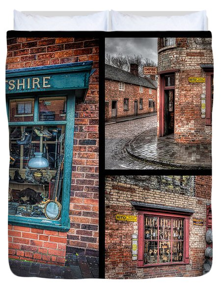 Victorian Shops Duvet Cover by Adrian Evans