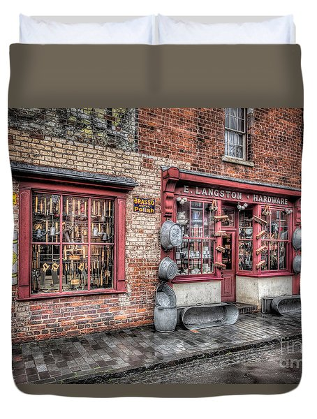 Victorian Stores England Duvet Cover by Adrian Evans