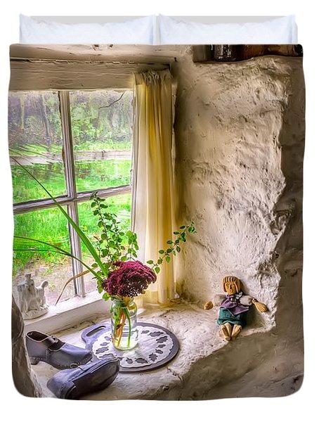 Victorian Window Duvet Cover by Adrian Evans
