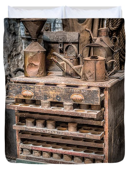 Victorian Workshop Duvet Cover by Adrian Evans