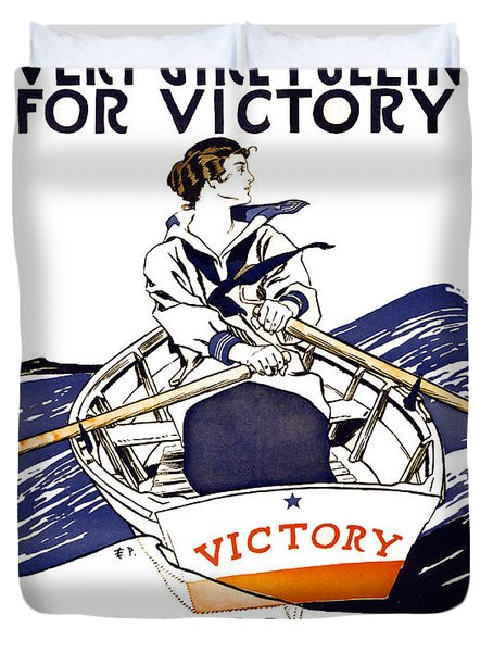 VICTORY GIRLS of W W 1     1918 Duvet Cover by Daniel Hagerman