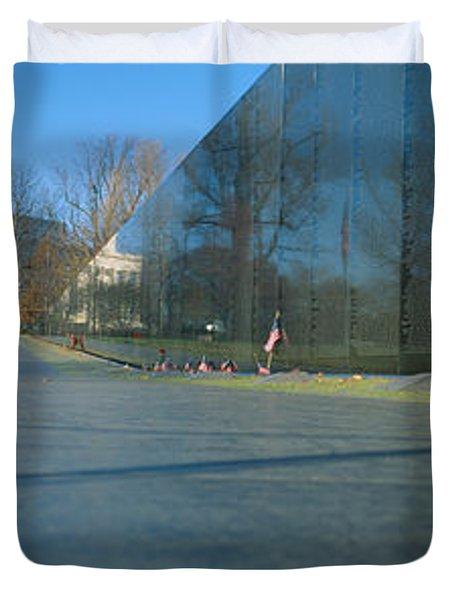 Vietnam Veterans Memorial, Washington Dc Duvet Cover by Panoramic Images