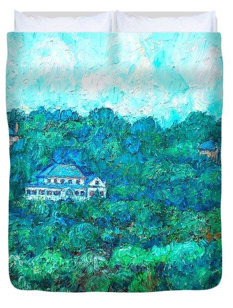 View From Rec Center Duvet Cover by Kendall Kessler
