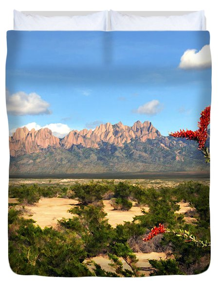 View From Roadrunner Duvet Cover by Kurt Van Wagner