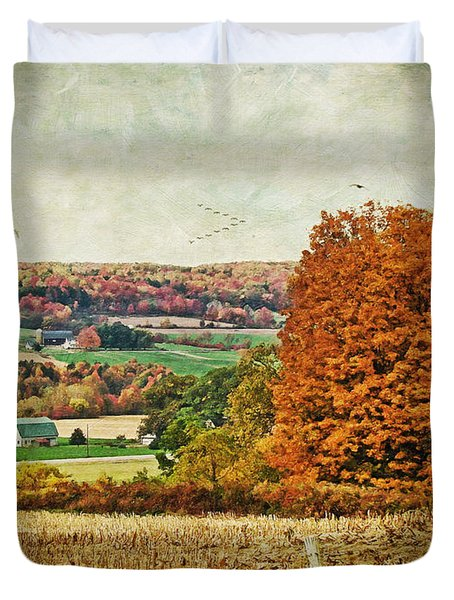 View From The Hill... Duvet Cover by Lianne Schneider