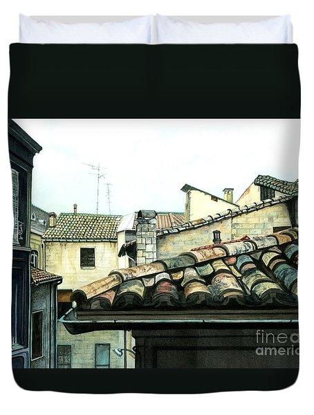 View From The Top Duvet Cover by Barbara Jewell