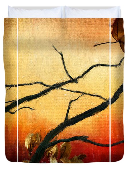 View Of Autumn Duvet Cover by Lourry Legarde