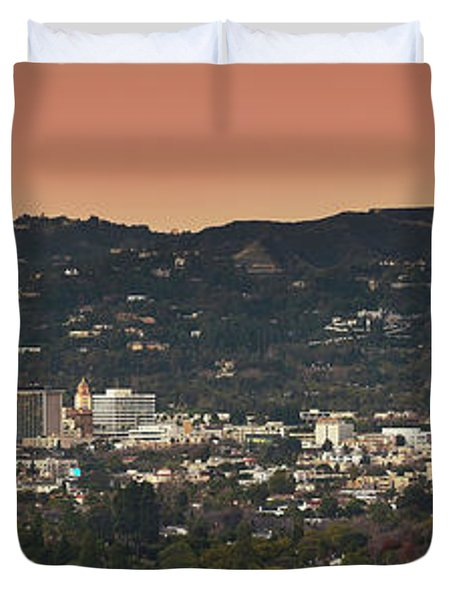 View Of Buildings In City, Beverly Duvet Cover by Panoramic Images