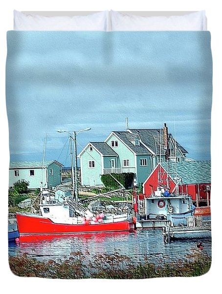 View Of Cove Duvet Cover by Kathleen Struckle