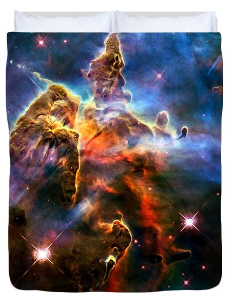 View Of Pillar And Jets Hh 901902 Duvet Cover by Amanda Struz