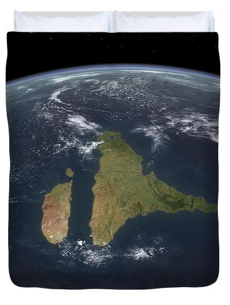 View Of The Indian Subcontinent Duvet Cover by Walter Myers