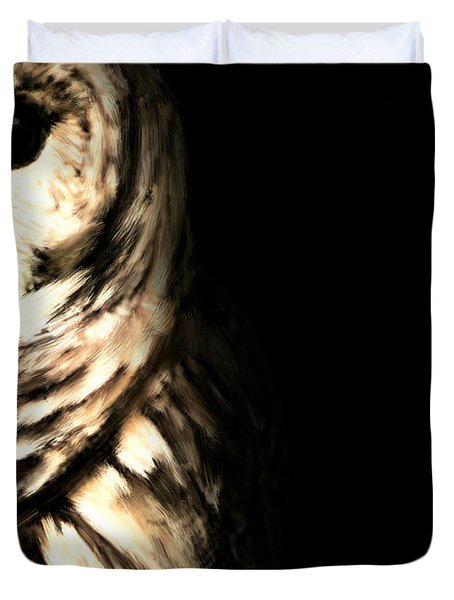 Vigilant In Darkness Duvet Cover by Lourry Legarde