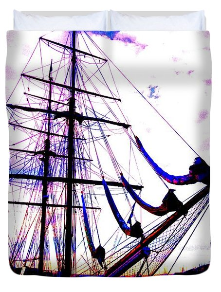 Vikings Go Sailing Duvet Cover by Hilde Widerberg