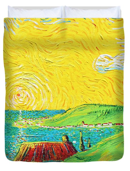 Village By The Sea Duvet Cover by Stefan Duncan
