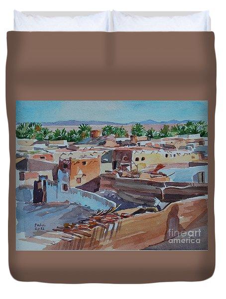 Village Duvet Cover by Mohamed Fadul