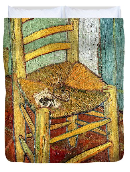 Vincent's Chair 1888 Duvet Cover by Vincent van Gogh