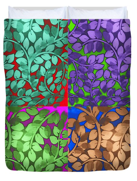 Vine Abstract Duvet Cover by Joan  Minchak