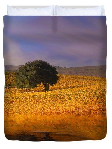 Vineyard Magic Duvet Cover by Stephanie Laird