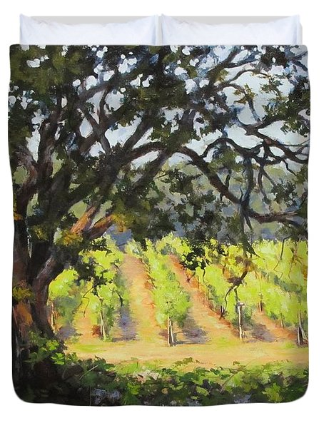 Vineyards Edge Duvet Cover by Karen Ilari