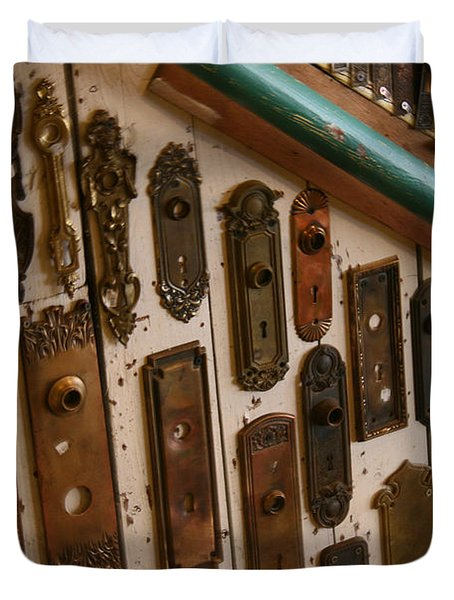 Vintage And Antique Door Knob And Lock Plates Photograph