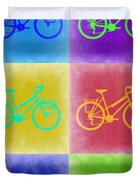 Vintage Bicycle Pop Art 2 Duvet Cover by Naxart Studio